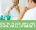 How to floss around a crown