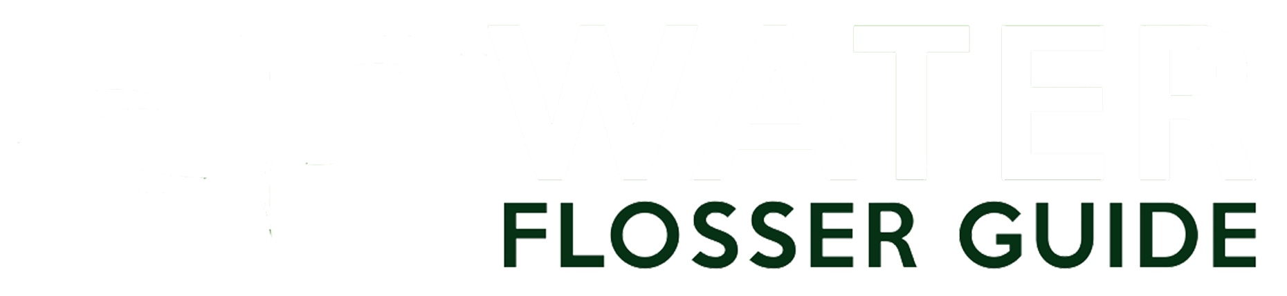 Water Flosser Guide Logo White